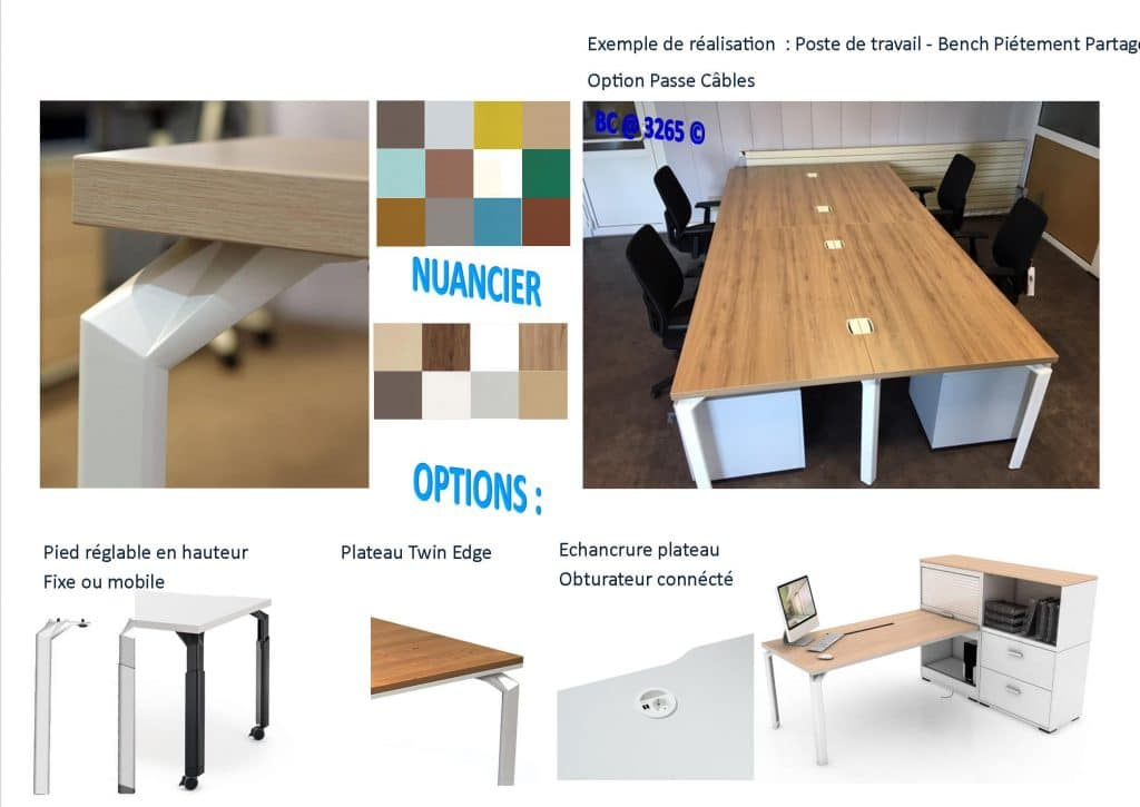 Bench gamme Epure